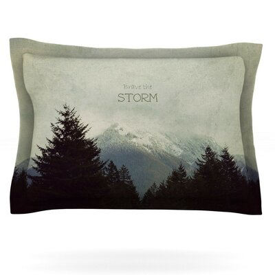 Brave The Storm by Robin Dickinson Featherweight Pillow Sham Size: Queen, Fabric: Cotton