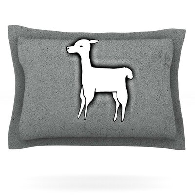 Llama One by Monika Strigel Featherweight Pillow Sham Size: King, Fabric: Cotton