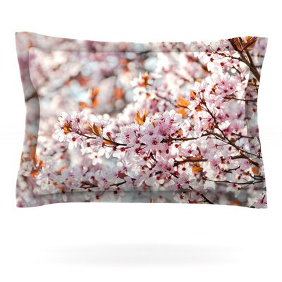 Flowering Plum Tree by Iris Lehnhardt Featherweight Pillow Sham Size: Queen, Fabric: Cotton