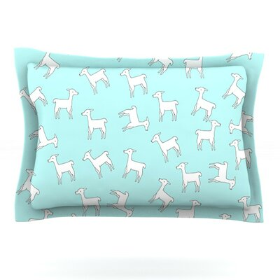 Baby Llama by Monika Strigel Featherweight Pillow Sham Size: King, Fabric: Cotton