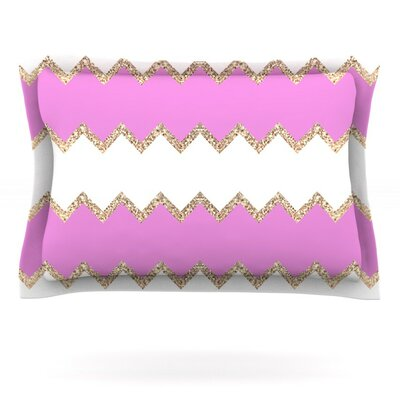 Avalon Ombre by Monika Strigel Featherweight Pillow Sham Size: King, Color: Pink/Rose White