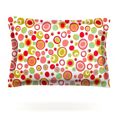 Bubbles by Louise Machado Featherweight Pillow Sham Size: King, Fabric: Cotton