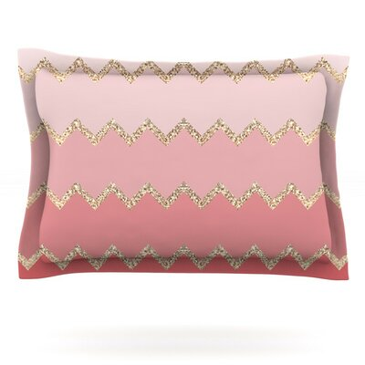 Avalon Ombre by Monika Strigel Featherweight Pillow Sham Size: Queen, Color: Pink/Coral
