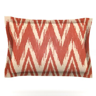 Tribal Chevron by Heidi Jennings Featherweight Pillow Sham Color: Red, Size: King