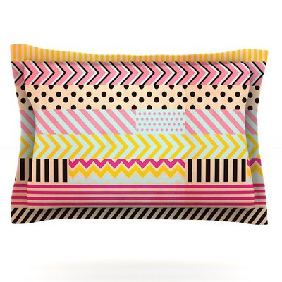 Decorative Tape by Louise Machado Featherweight Pillow Sham Size: Queen, Fabric: Cotton
