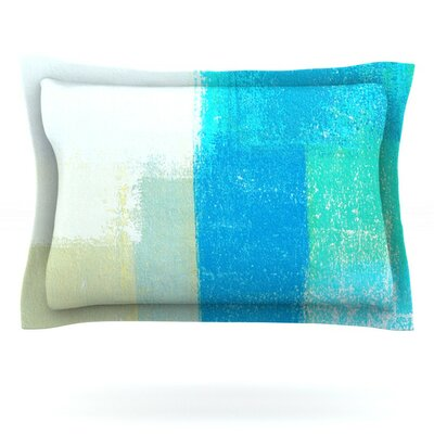 Shallow by CarolLynn Tice Featherweight Pillow Sham Size: King, Fabric: Cotton