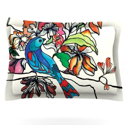 Magic Garden by Sonal Nathwani Featherweight Pillow Sham Size: King, Fabric: Cotton