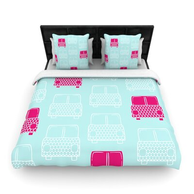 Beep Beep by Michelle Drew Woven Duvet Cover Size: Twin
