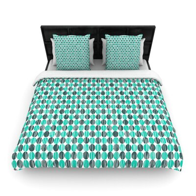 Distressed Circles by Michelle Drew Woven Duvet Cover Size: Twin
