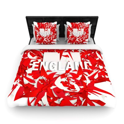 England by Danny Ivan Woven Duvet Cover Size: Twin