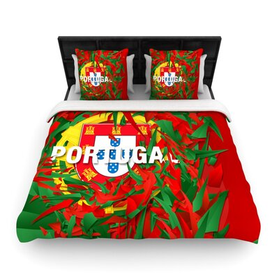 Portugal by Danny Ivan Woven Duvet Cover Size: King/California King