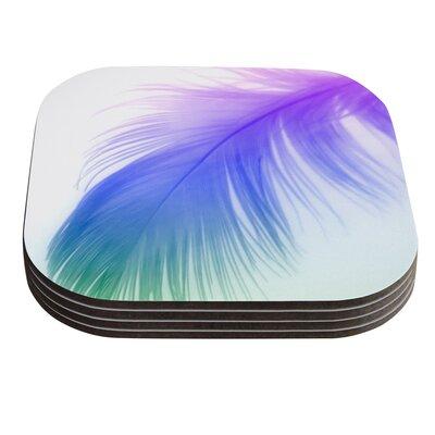 Feather Colour by Alison Coxon Coaster