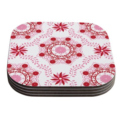 Let's Dance by Anneline Sophia Coaster Color: Red