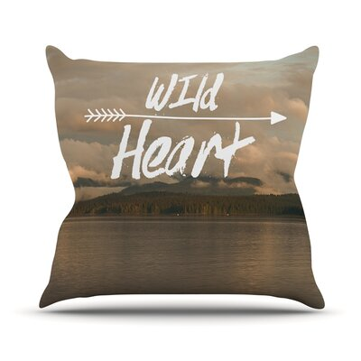 Wild Heart by Ann Barnes Landscape Throw Pillow Size: 18 H x 18 W x 1 D