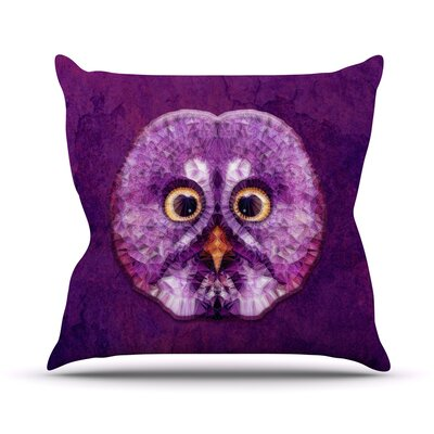 Hoot! by Ancello Owl Throw Pillow Size: 18 H x 18 W x 1 D