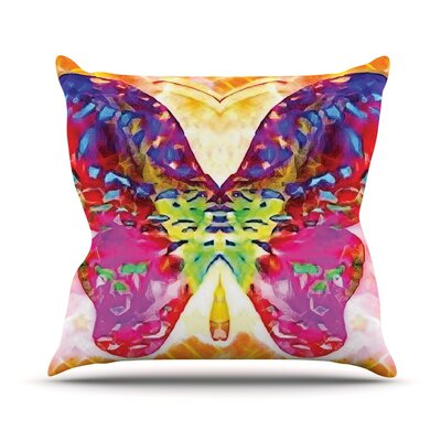 Butterfly Spirit by Anne LaBrie Throw Pillow Size: 26 H x 26 W x 1 D