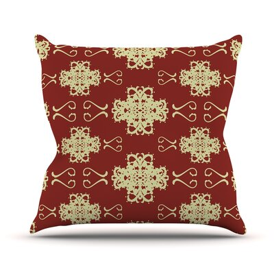 Asian Motif Damask by Mydeas Pattern Throw Pillow Size: 18 H x 18 W x 1 D