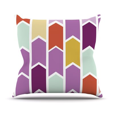 Orchid Geometric Chevron Arrows Outdoor Throw Pillow Size: 16 H x 16 W x 3 D