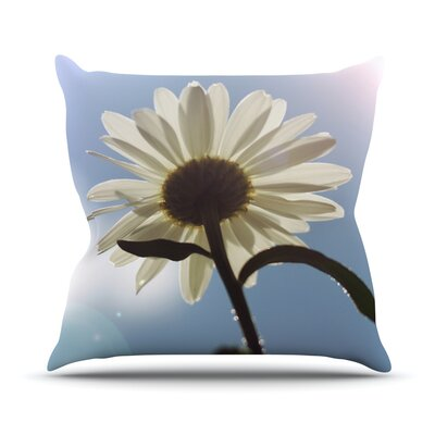 Daisy Bottom by Angie Turner Sky Flower Throw Pillow Size: 18 H x 18 W x 1 D