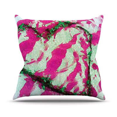 Tiger Love by Anne LaBrie Throw Pillow Color: Pink/Green, Size: 20 H x 20 W x 1 D