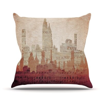 City by Alison Coxon Warm Throw Pillow Size: 26 H x 26 W x 1 D