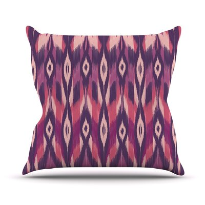 Ikat by Amanda Lane Throw Pillow Size: 18 H x 18 W x 1 D