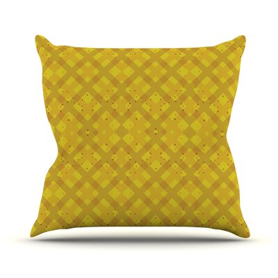 Dotted Plaid by Mydeas Geometric Throw Pillow Size: 20 H x 20 W x 1 D