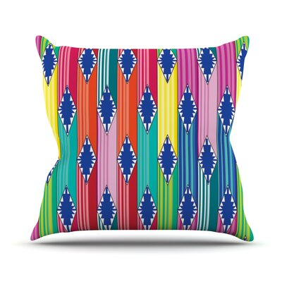 Blanket by Anneline Sophia Rainbow Tribal Throw Pillow Size: 16 H x 16 W x 1 D