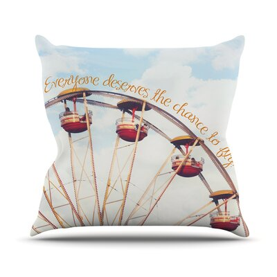 The Chance To Fly by Beth Engel Ferris Wheel Throw Pillow Size: 20 H x 20 W x 1 D