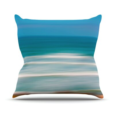 Sun and Sea Throw Pillow Size: 18 H x 18 W x 3 D