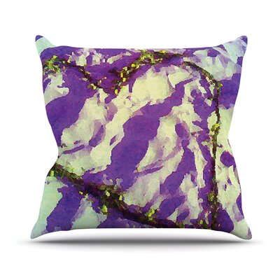 Tiger Love by Anne LaBrie Throw Pillow Size: 16 H x 16 W x 1 D, Color: Purple/Yellow