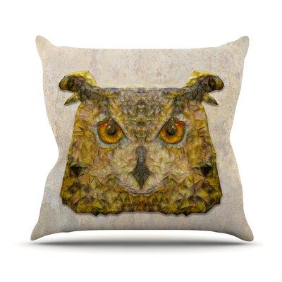 Abstract Owl by Ancello Throw Pillow Size: 18 H x 18 W x 1 D
