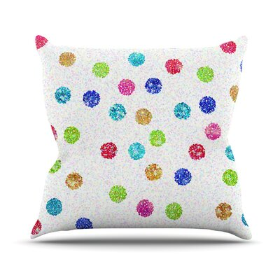 Seeing Dots Rainbow Throw Pillow Size: 26 H x 26 W x 1 D