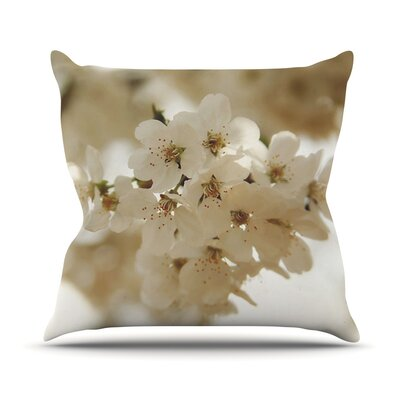 Flowering Pear by Angie Turner Petals Throw Pillow Size: 20 H x 20 W x 1 D