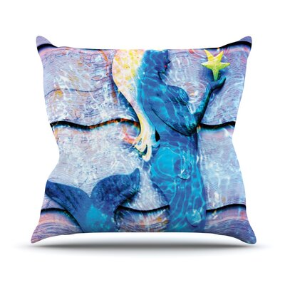 Mermaid Starlight by Anne LaBrie Throw Pillow Size: 18 H x 18 W x 1 D