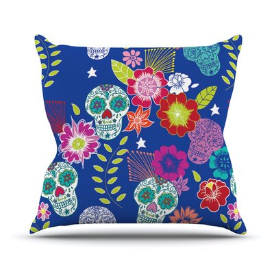 Day of the Dead Aztec Throw Pillow Size: 16 H x 16 W x 1 D