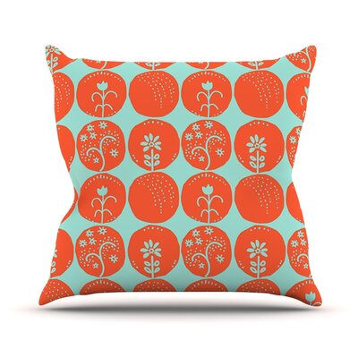 Dotty Papercut by Anneline Sophia Throw Pillow Color: Red/Blue, Size: 16 H x 16 W x 1 D