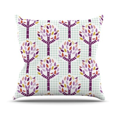 Orchid Spring Tree by Pellerina Design Abstract Throw Pillow Size: 26 H x 26 W x 1 D