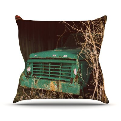 Ford Car Throw Pillow Size: 26 H x 26 W x 1 D