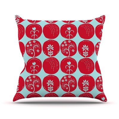 Dotty Papercut by Anneline Sophia Throw Pillow Color: Red/Blue, Size: 26 H x 26 W x 1 D