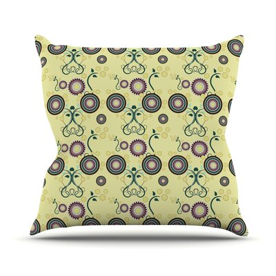 Spring Florals by Mydeas Throw Pillow Size: 18 H x 18 W x 1 D