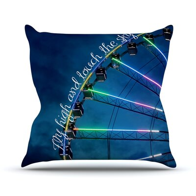 Fly High And Touch The Sky by Beth Engel Throw Pillow Size: 18 H x 18 W x 1 D