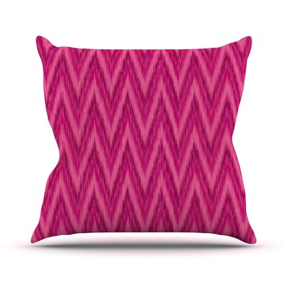 Chevron by Amanda Lane Throw Pillow Size: 18 H x 18 W x 1 D, Color: Pink