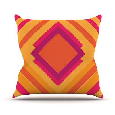 Diamond Dayze by Belinda Gillies Throw Pillow Size: 18 H x 18 W x 1 D