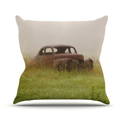 Forgotten Car by Angie Turner Grass Throw Pillow Size: 16 H x 16 W x 1 D
