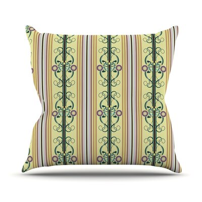 Blooming Trellis Throw Pillow Size: 18 H x 18 W x 1 D