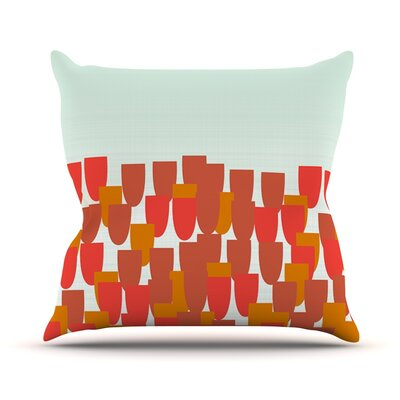 Sunrise Poppies by Pellerina Design Throw Pillow Size: 18'' H x 18'' W x 1