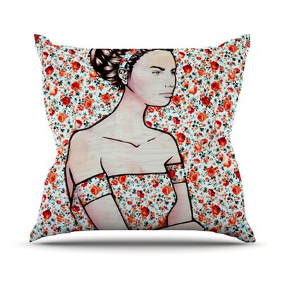 Spring Fashion by Brittany Guarino Wood Flowers Throw Pillow Size: 26 H x 26 W x 1 D