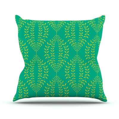Laurel Leaf Floral Throw Pillow Size: 18 H x 18 W x 1 D, Color: Green