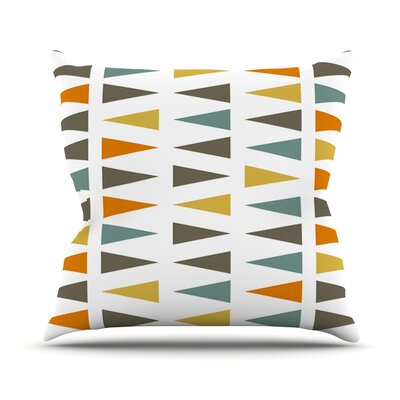 Stacked Geo by Pellerina Design Throw Pillow Size: 18'' H x 18'' W x 1